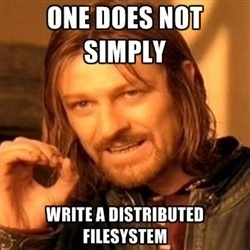 One does not simply write a Distributed Filesystem